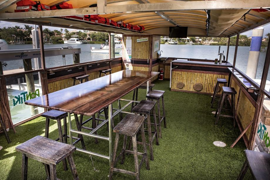 New For 30 Live Music Bar And Tvs Aboard Tiki Boat In